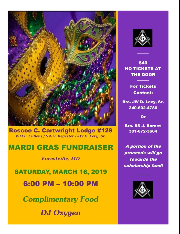 2019 Mardi Gras Scholarship Fundraiser