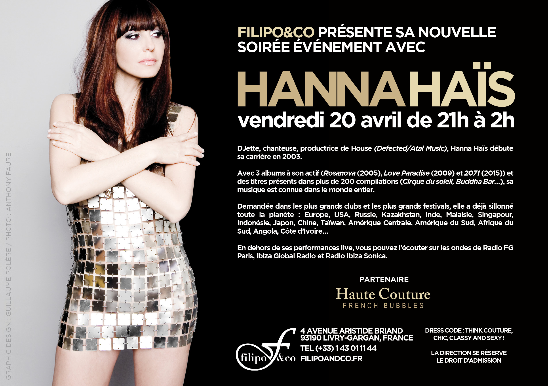 Soirée Haute couture avec Hanna Hais