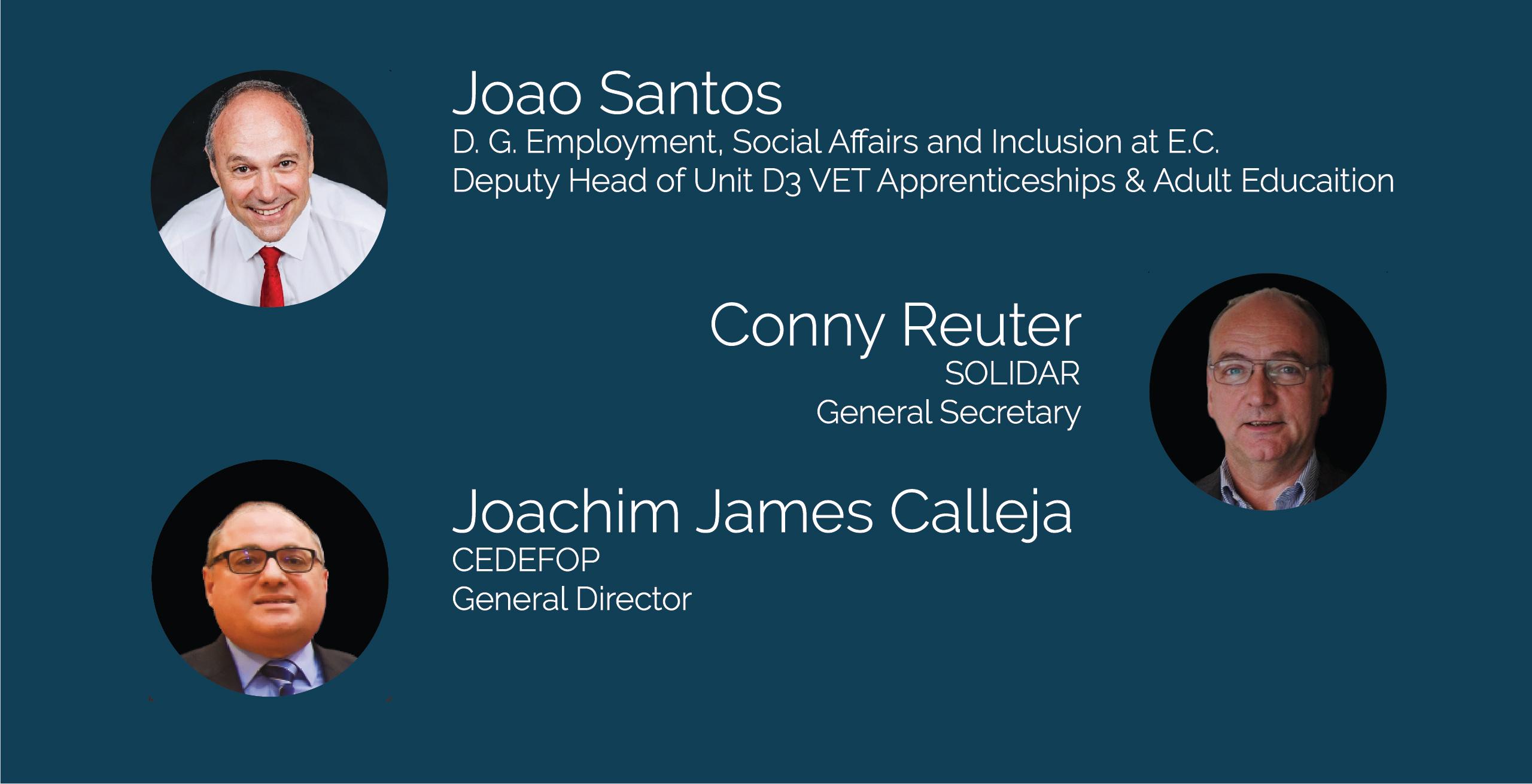 Speakers - Joao Santos, Conny Reuter, Joachim James Calleja