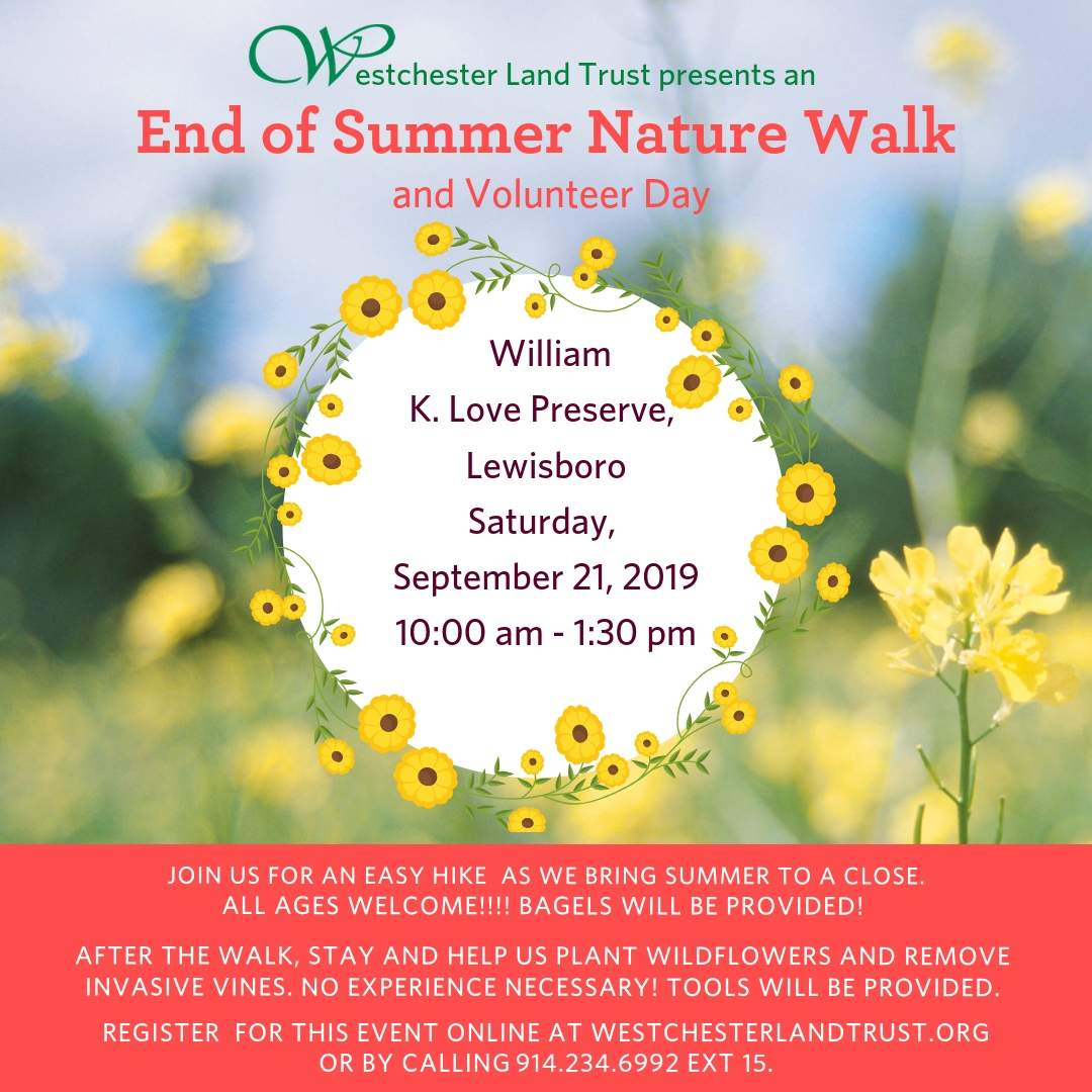 End of Summer Nature Walk and Volunteer Day Tickets, Sat