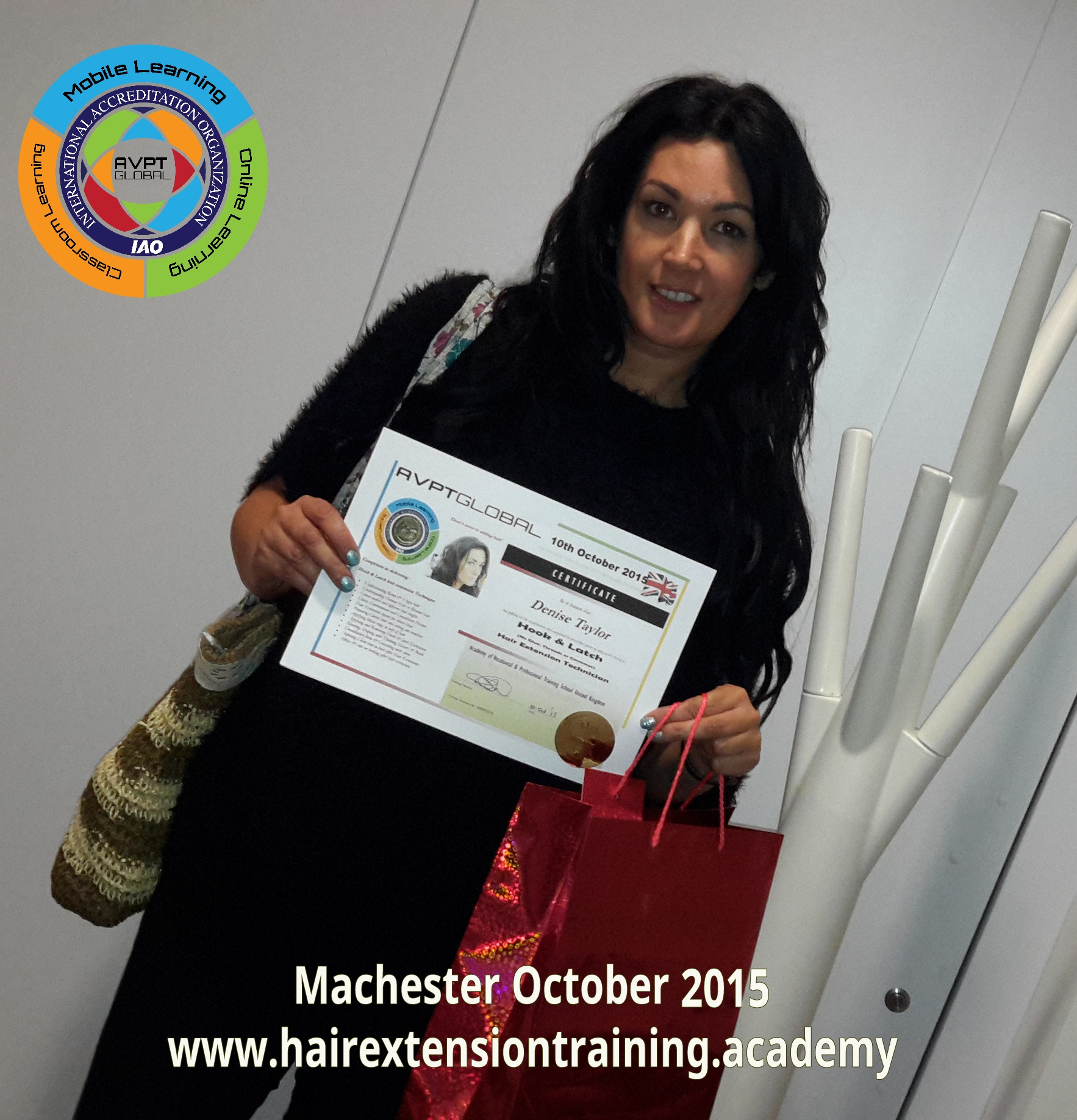 Hair Extension 1 day hook and latch training course by diane shawe