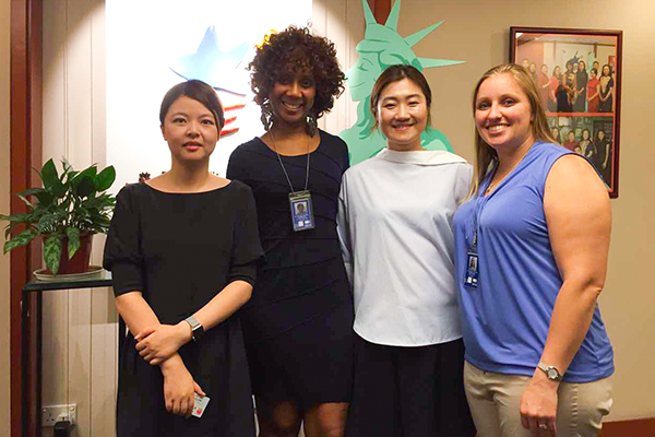 Jumore representatives at U.S. Consulate General's Agricultural Trade Office (ATO) in Shanghai