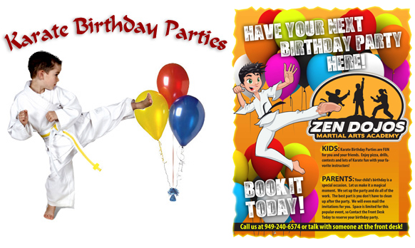 Karate Birthday poster