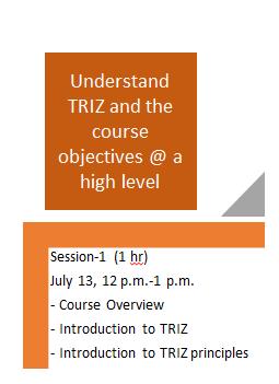 TRIZ Session 1