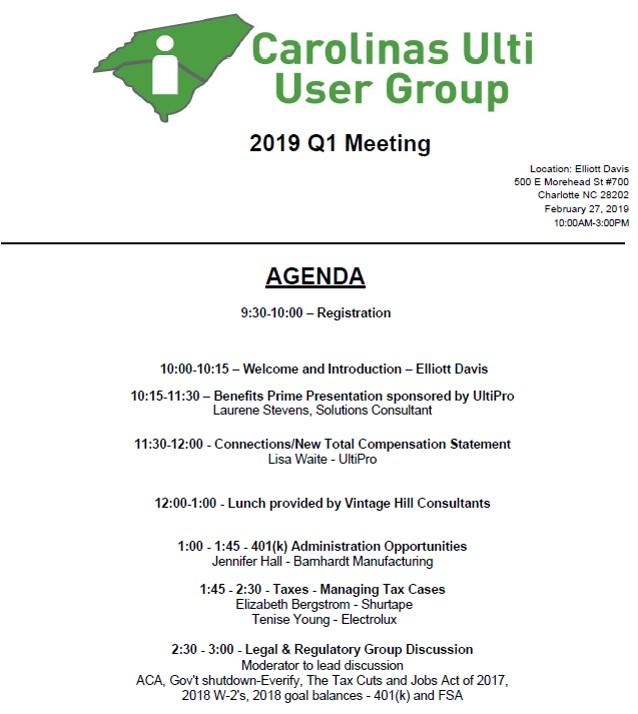 2019 Q1 Agenda