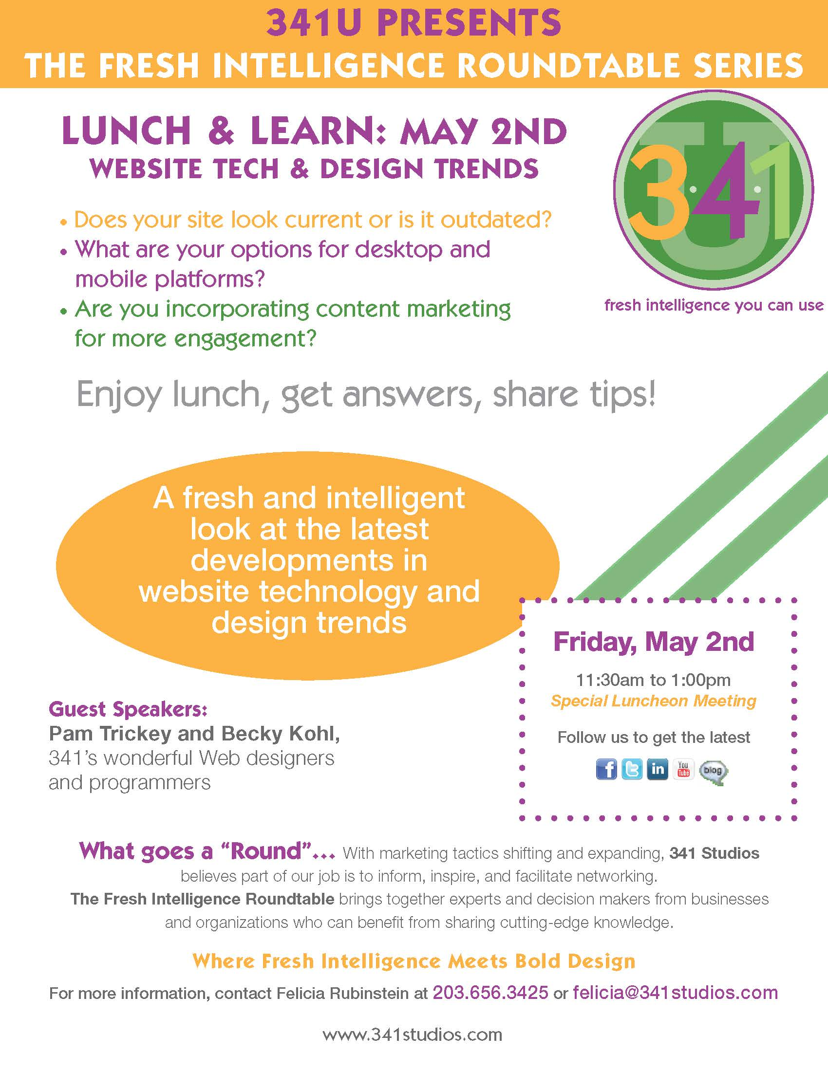 May 2nd Lunch & Learn - Website Tech & Design Trends