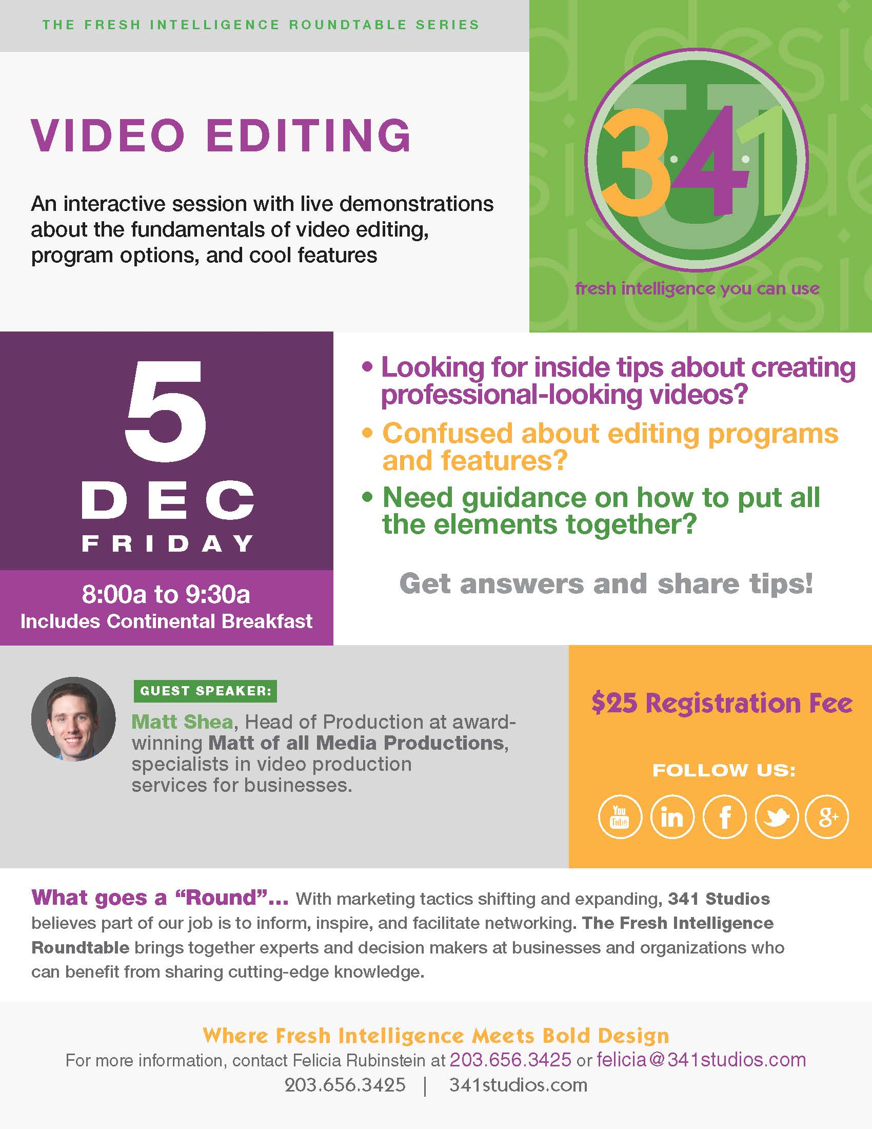 12/5/14 Video Editing Roundtable Invite