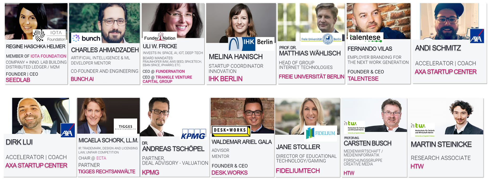 TOUCHING INNOVATIONS 2019   Speakers include...