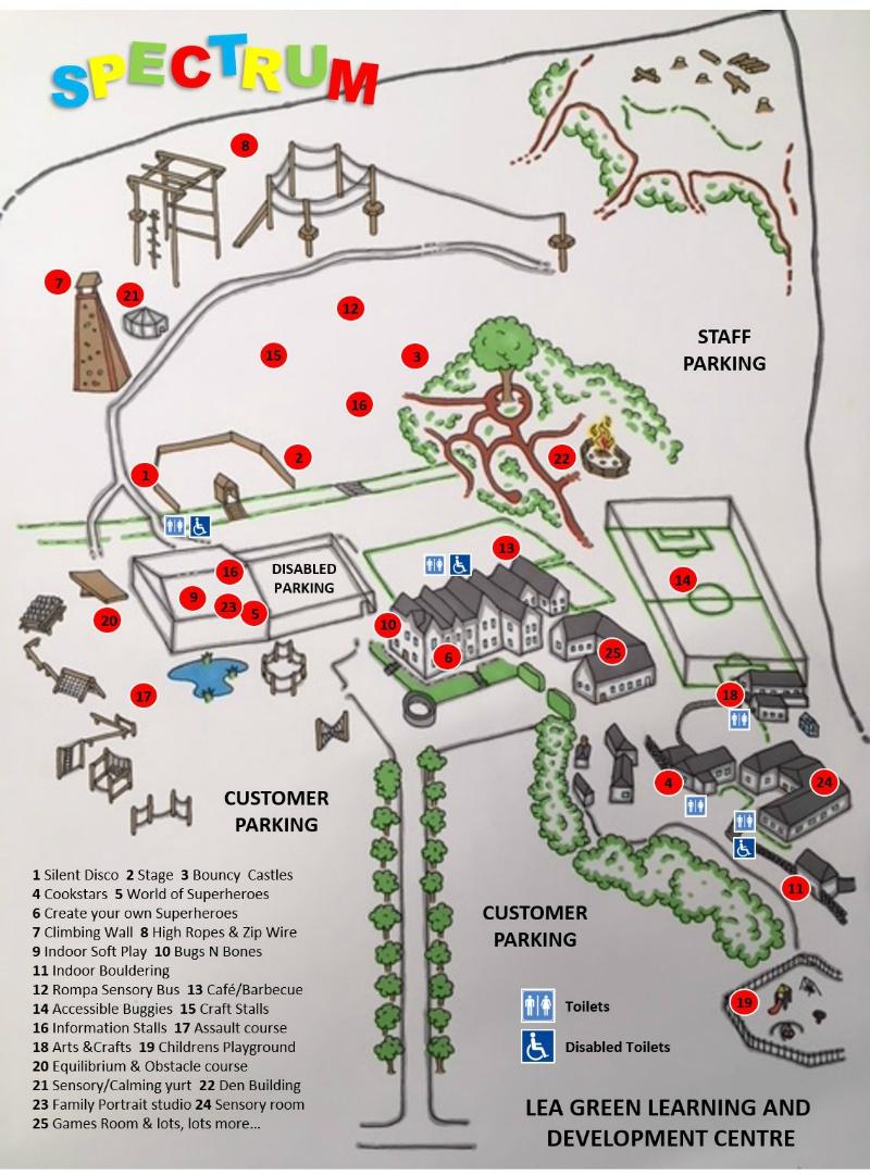 Spectrum Autism Friendly Festival Map