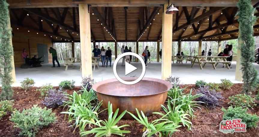 Experience the Cajun Cajun Encounters Pavilion