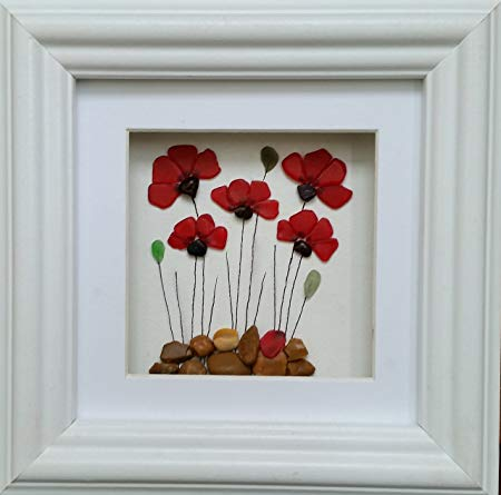 Poppies made of glass