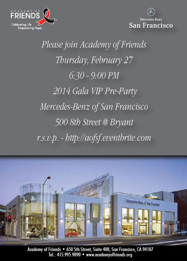2014 Gala VIP Pre-Party at Mercedes-Benz San Francisco