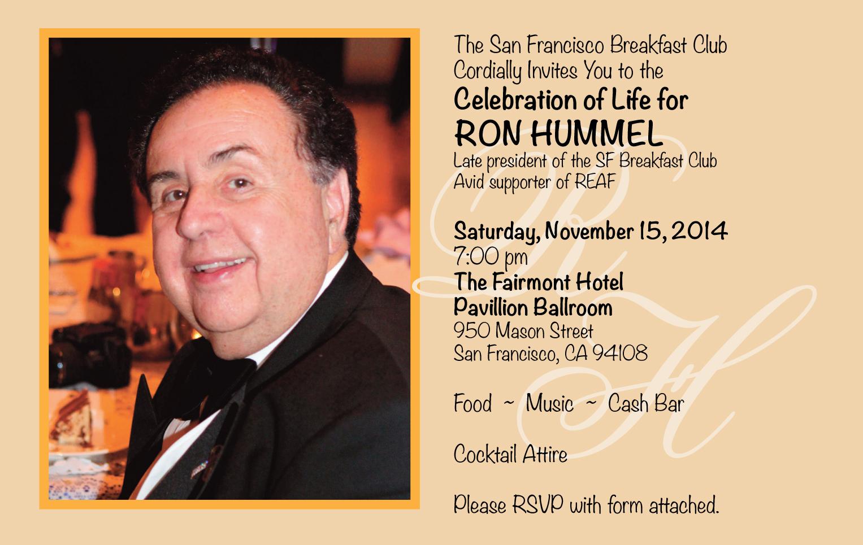 Ron Hummel Invitation