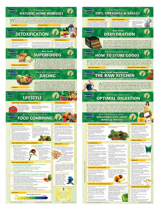 12 chart Raw Food Quick reference guide