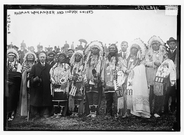 1913 photo at groundbreaking North American Indian Monument