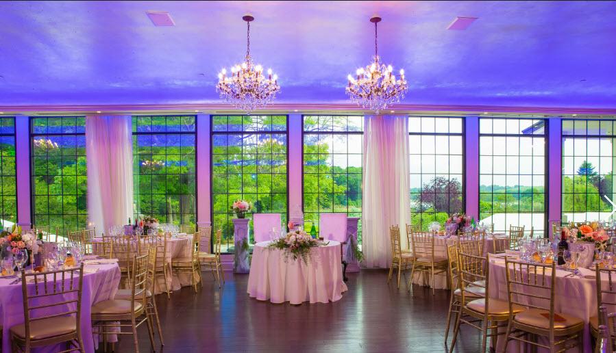 Ballroom photo with view