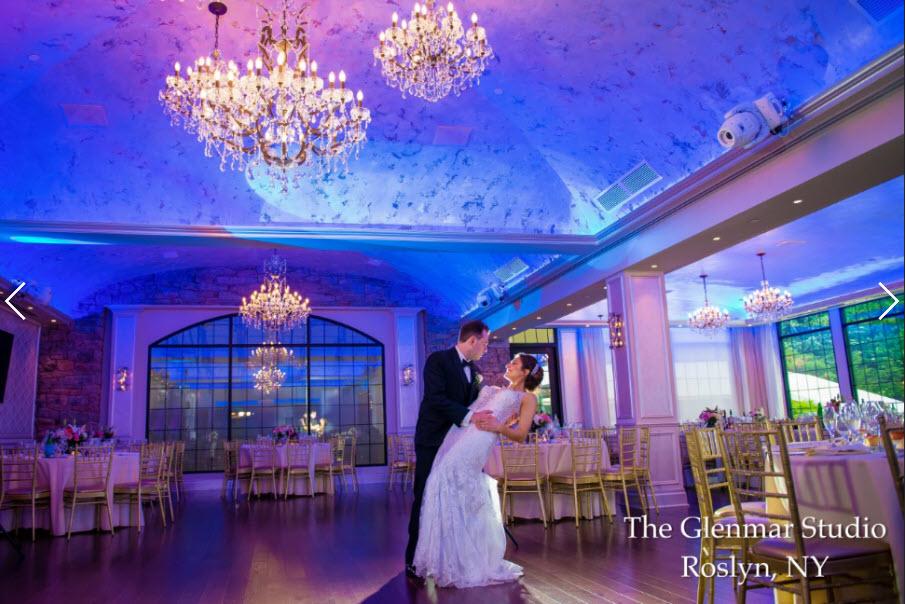 Ballroom photo with couple