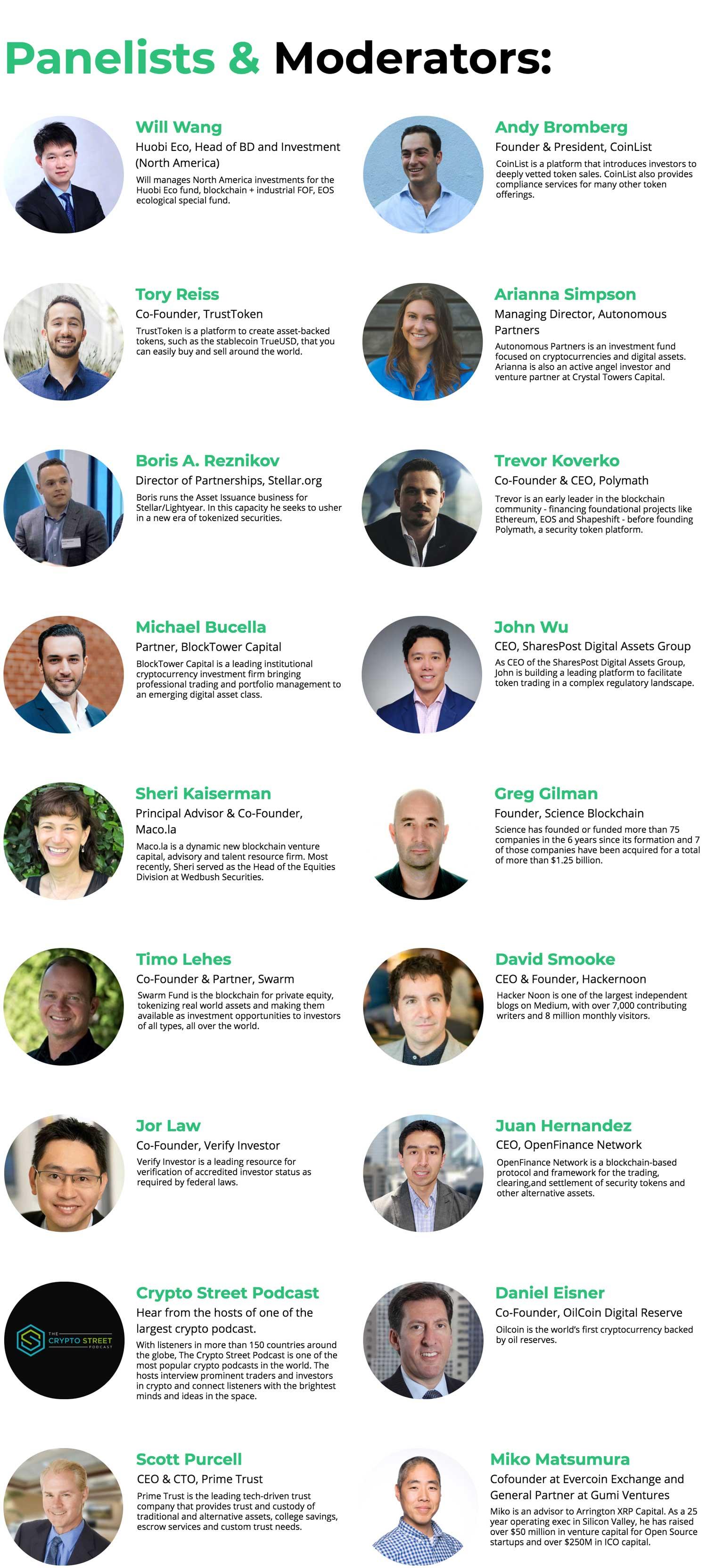Panelists & Moderators