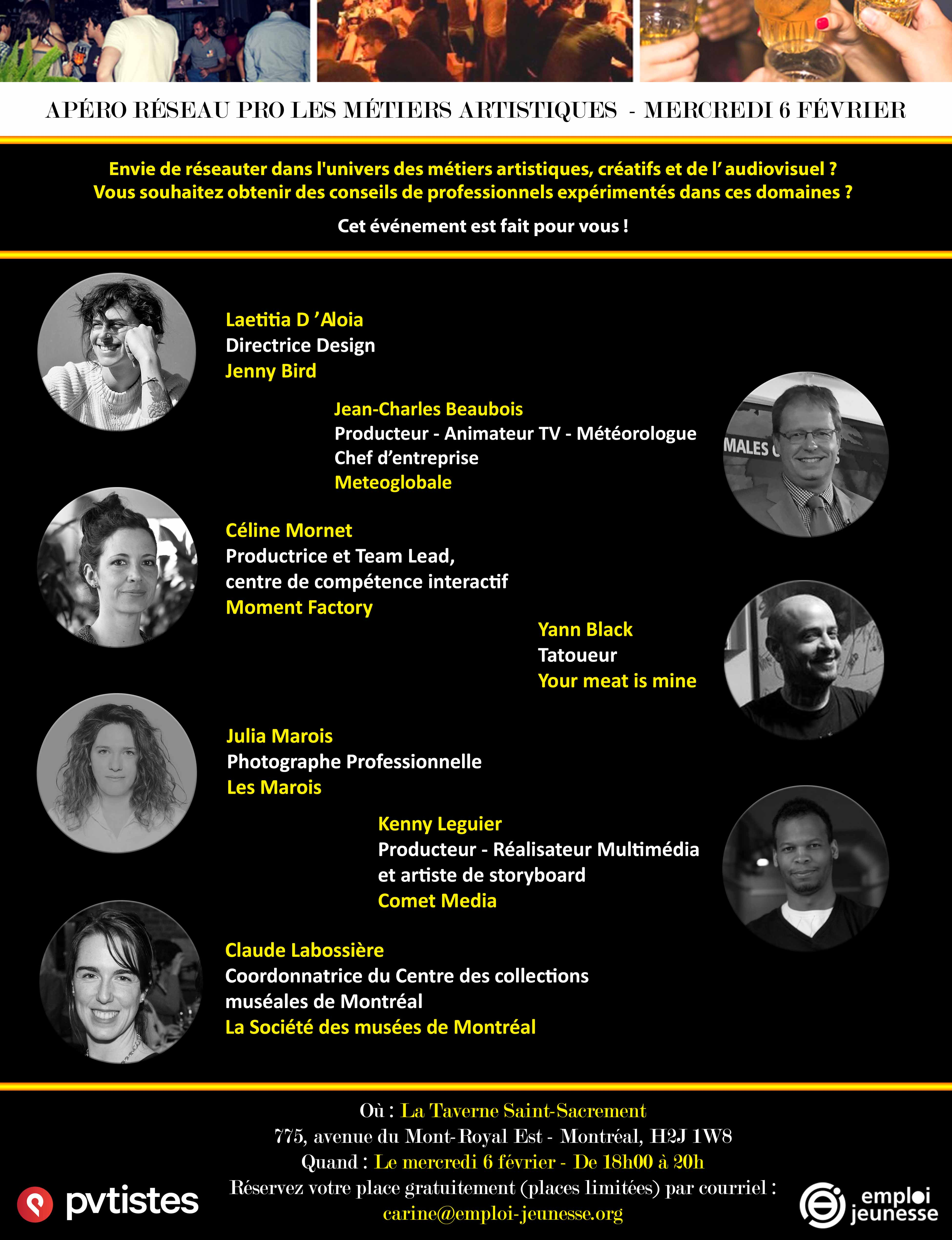 Apéro Réseau Pro les métiers artistiques, créatifs et de l'audiovisuel
