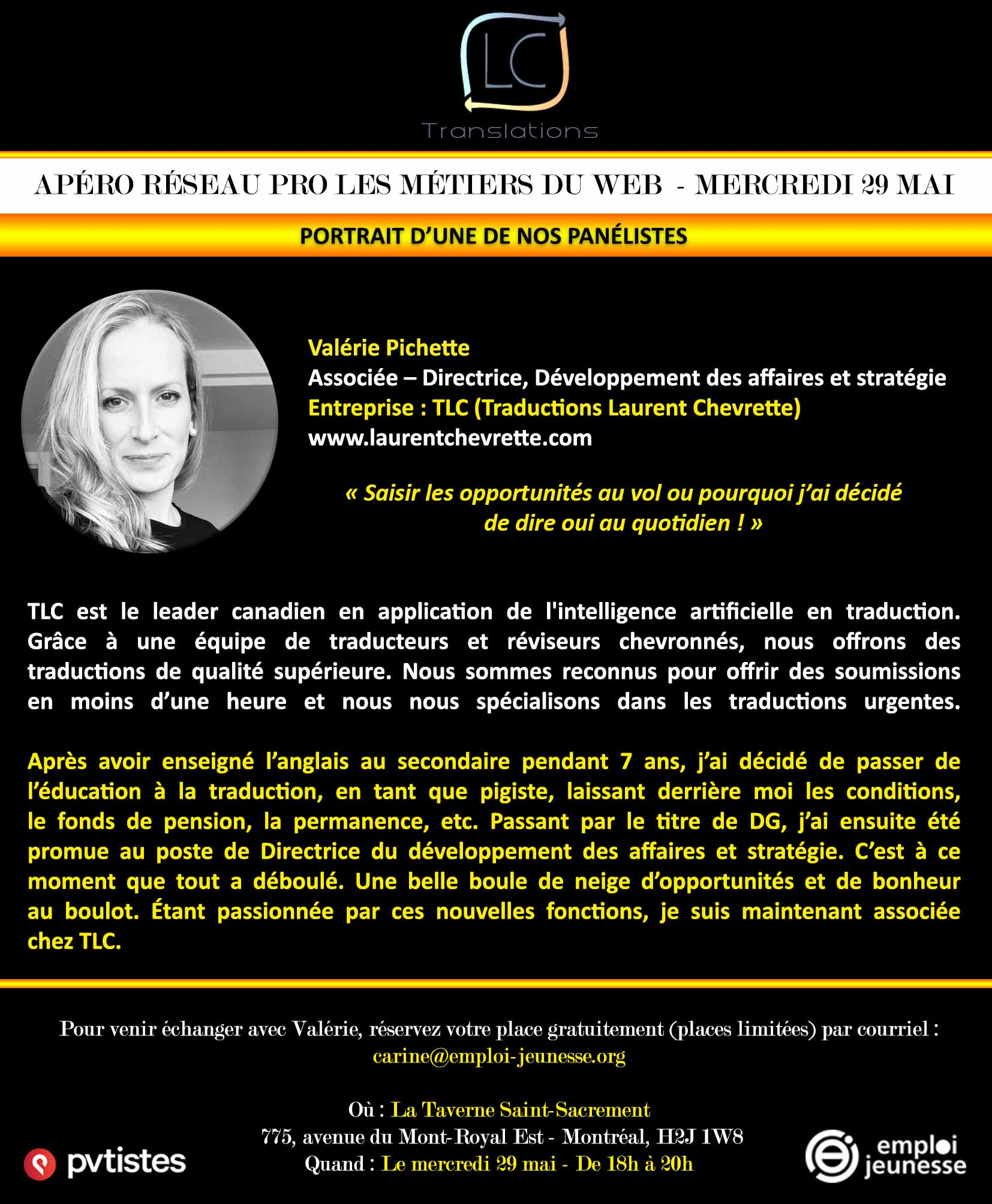 Valérie Pichette TLC - Web