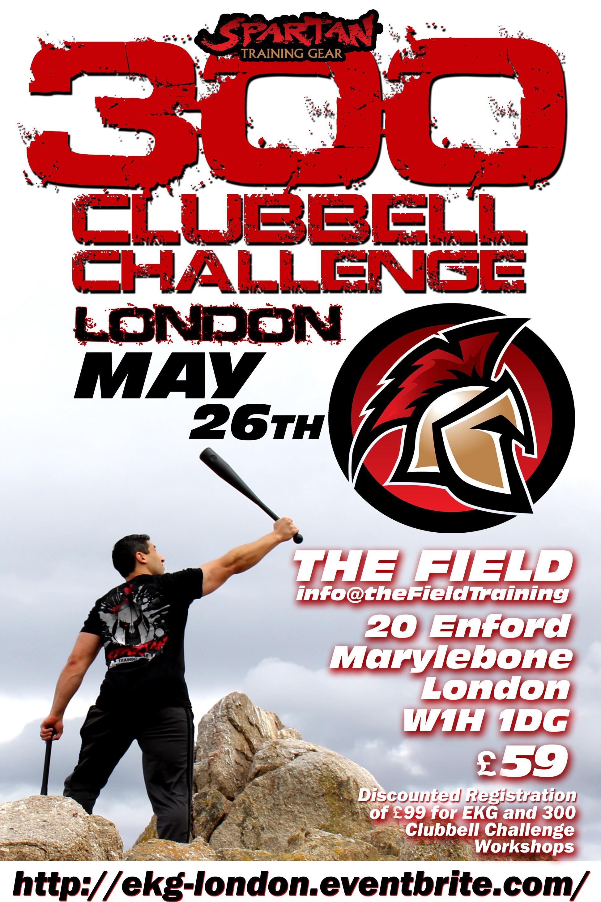 300 Clubbell Challenge Workshop Flyer