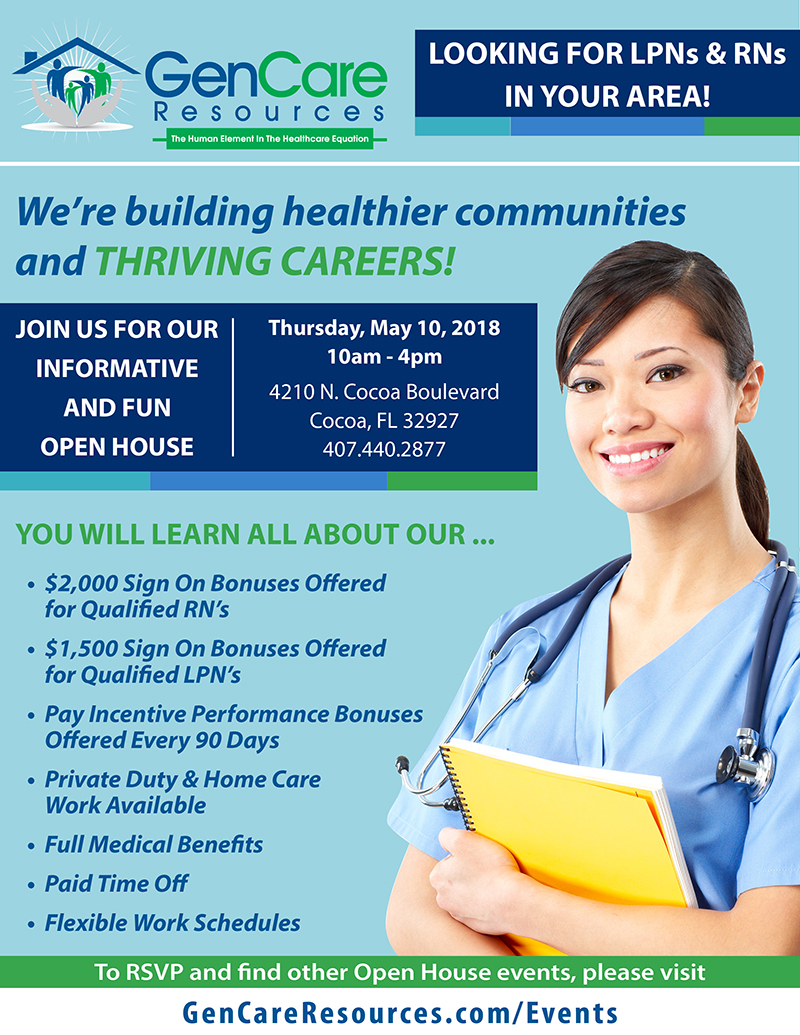 GenCare Resources Open House on May 10, 2018