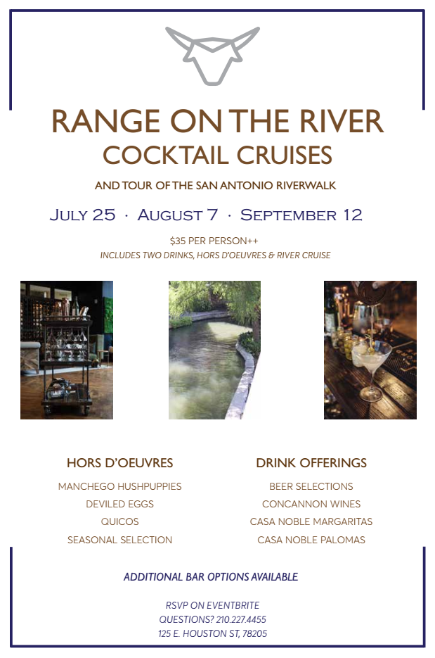 Range on the River Cocktail Cruise