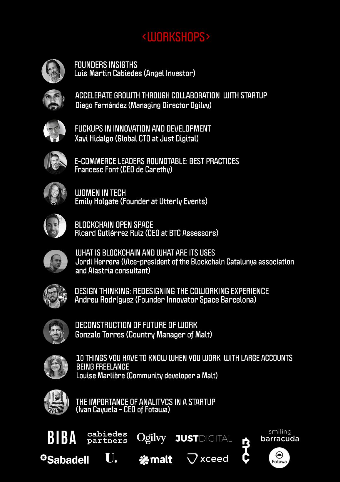 Workshops & speakers