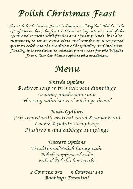 Wigilia menu