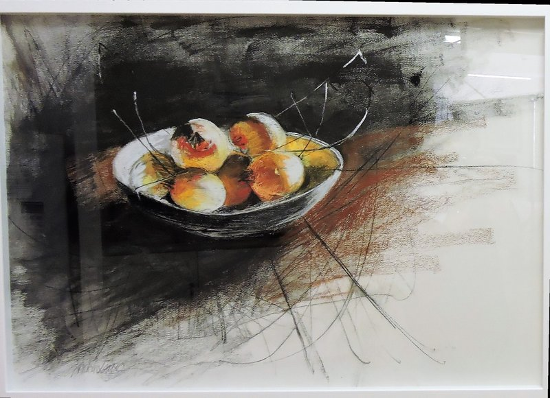 Gwendolin Lewis- The Fruit Bowl- PastelCharcoal