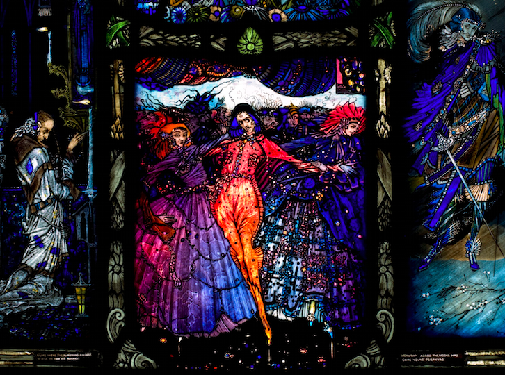 Eve of St Agnes Window by Harry Clarke