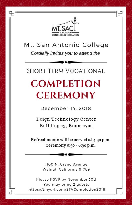 STV Completion Ceremony