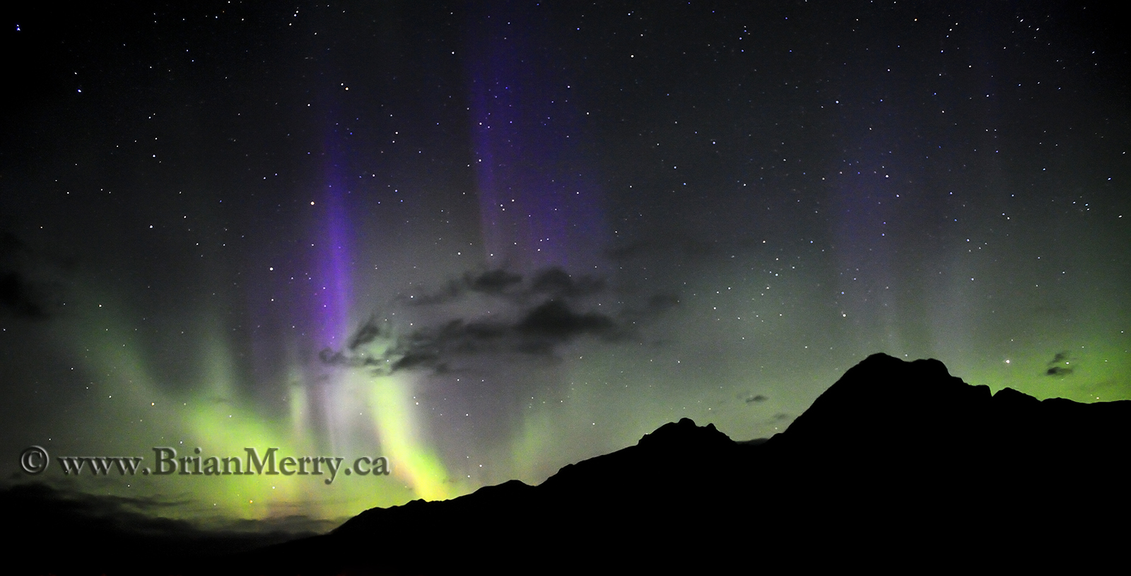 Aurora over Mount Astley, Banff National Park