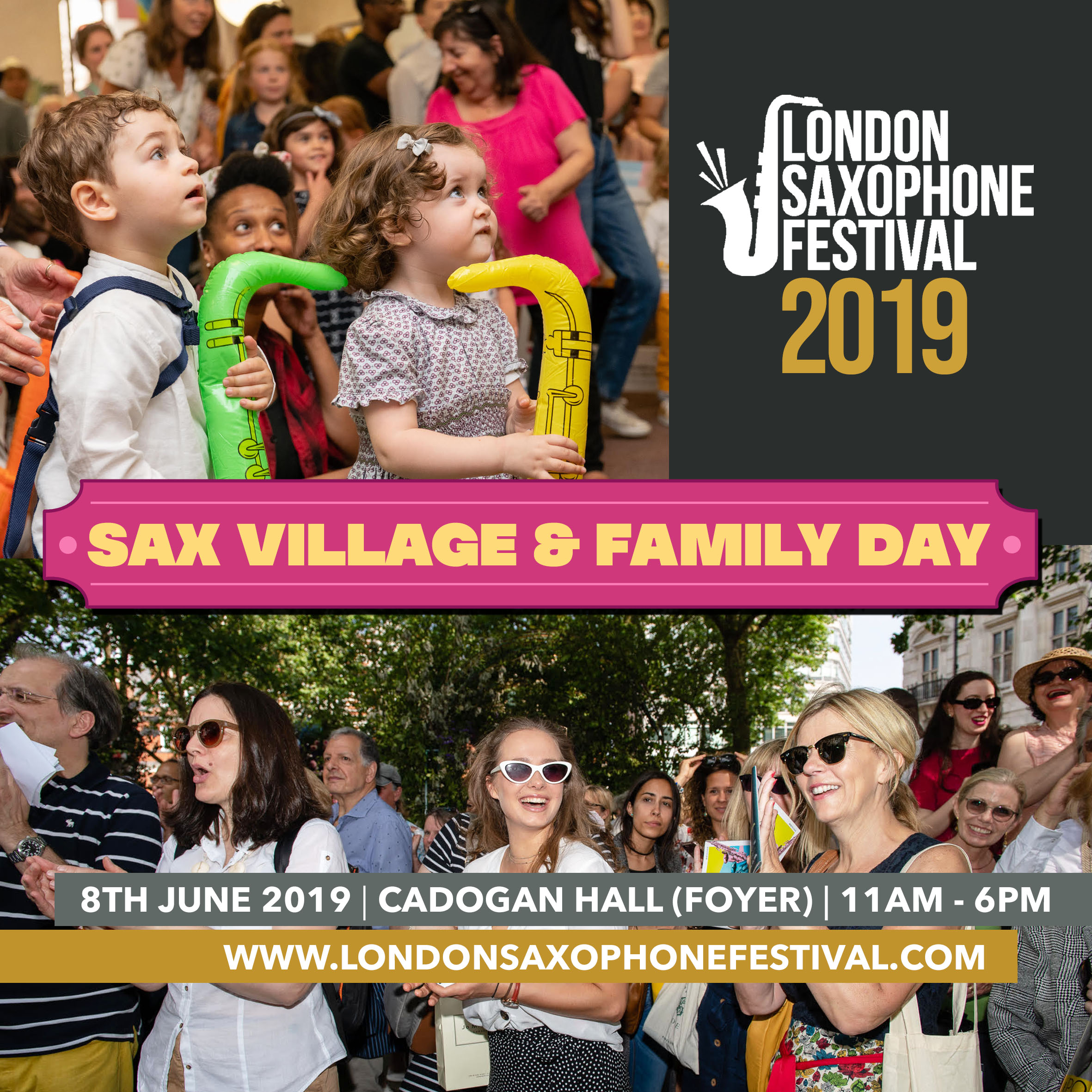 Sax Village and Family Day Banner