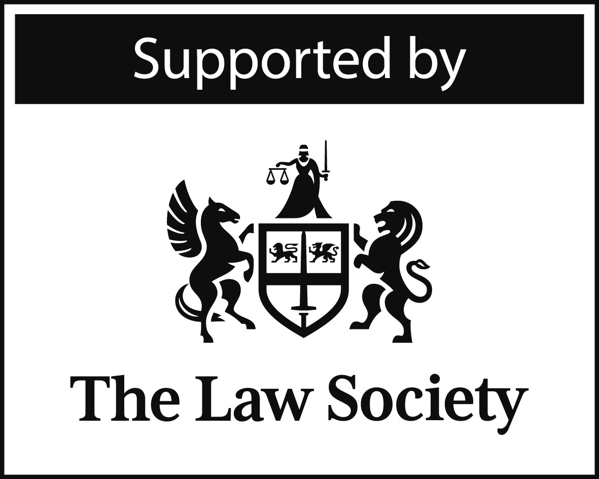 supported by the law society logo