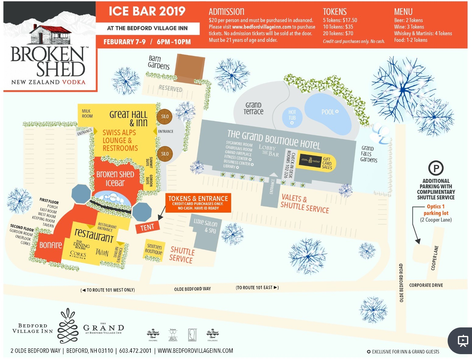 2019 Broken Shed Ice Bar Map