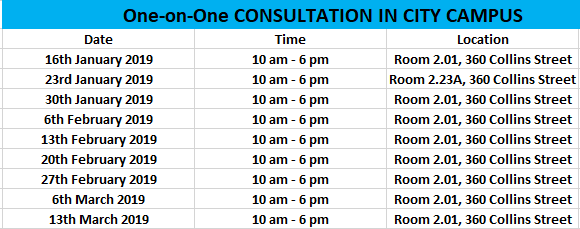 Consultation Times