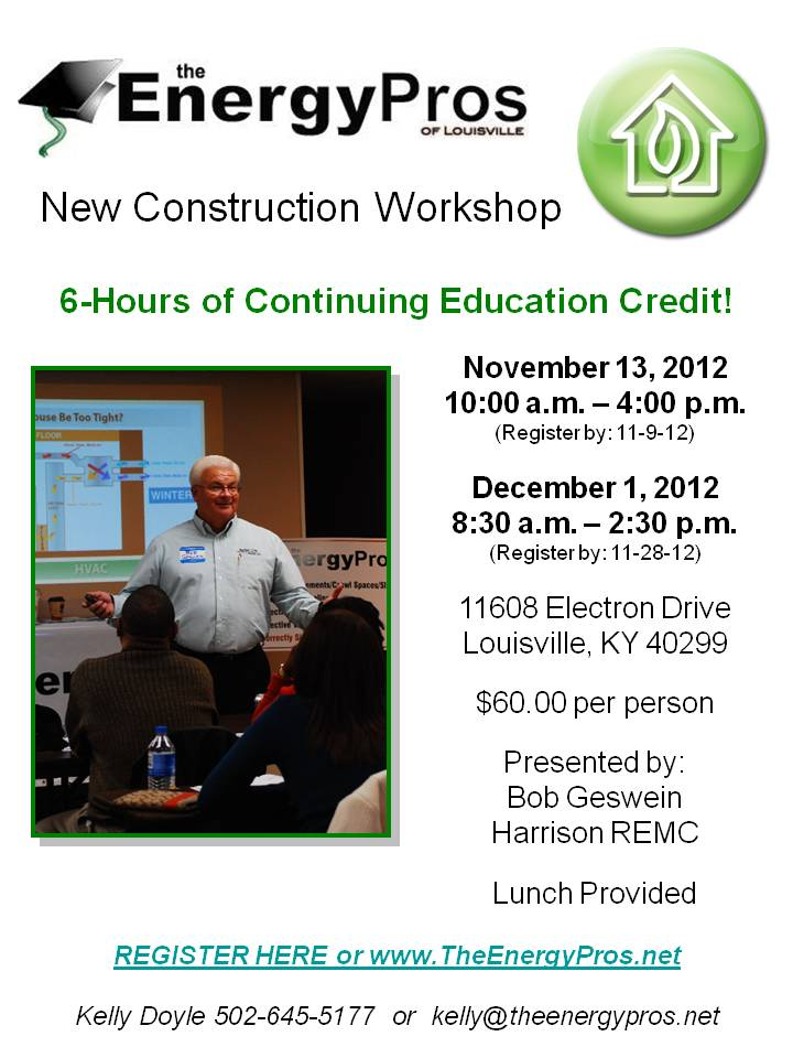 Register Now for our New Construction Workshop