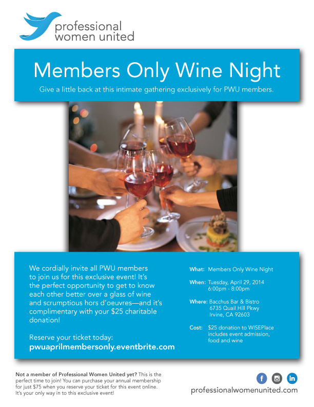 April Members Only Wine Night