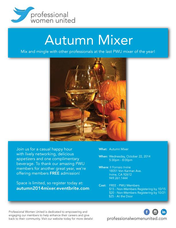 PWU Autumn Mixer
