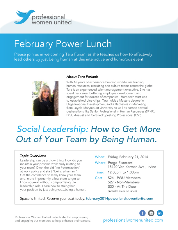 February Power Lunch