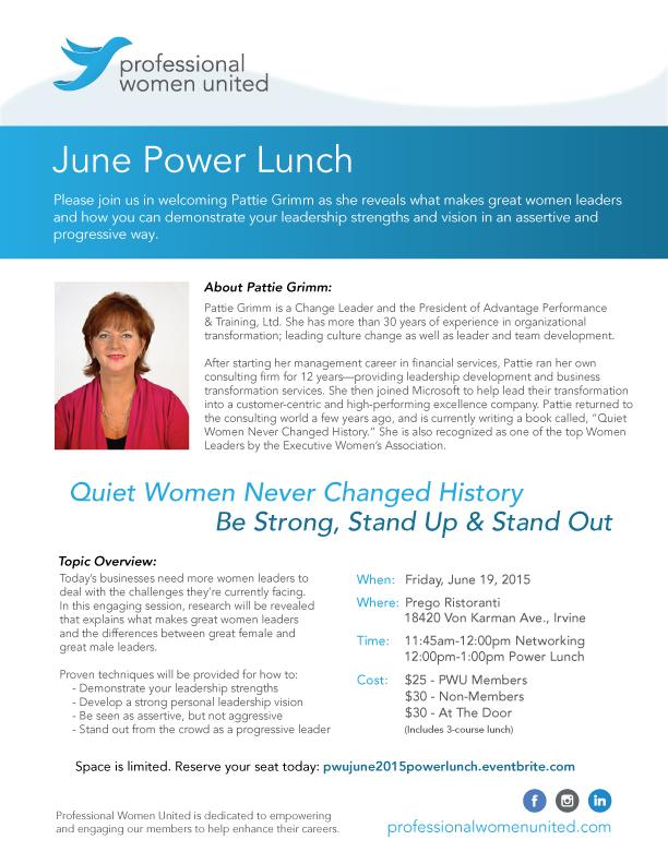 June 2015 Power Lunch Flyer