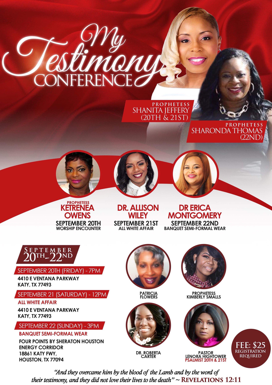 My Testimony Conference Flyer