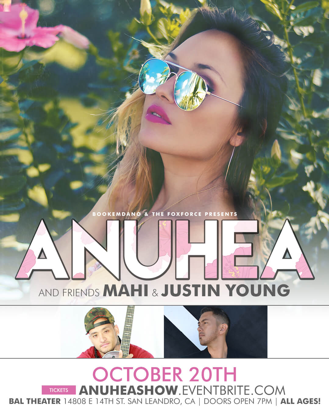 Anuhea performing live with mahi justin young tickets sat oct 20 tags m4hsunfo