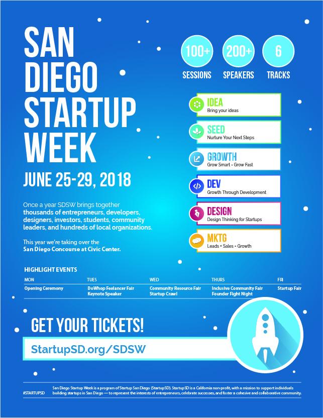 San Diego Startup Week Flyer