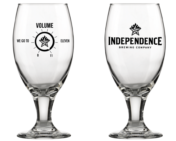 Independence 11th Anniversary Glass