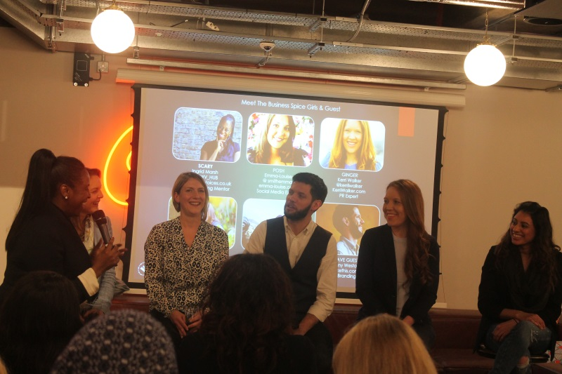 Panel at women with voices networking