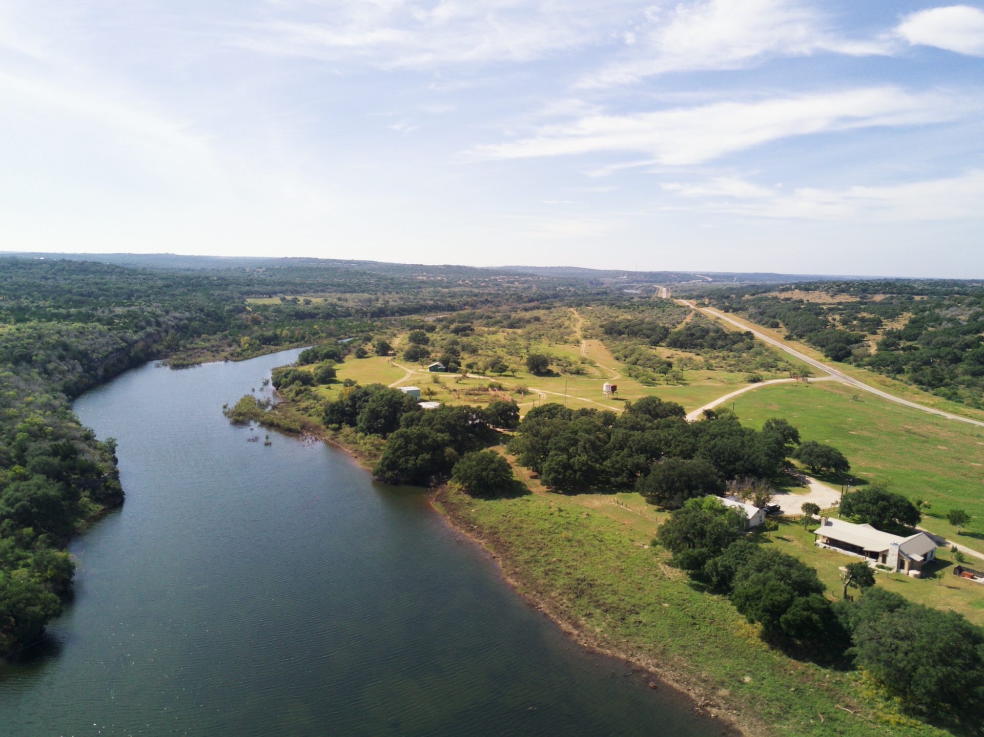 Aerial of Llano Springs Ranch