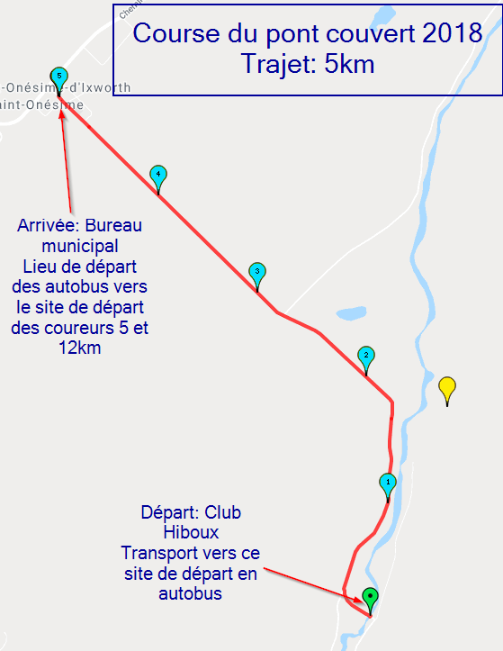 trajet 5km 2018