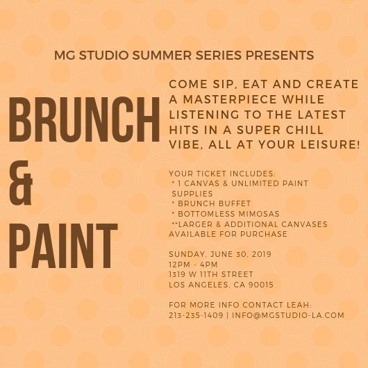 Mg Studio Summer Series Brunch Paint 30 Jun 2019